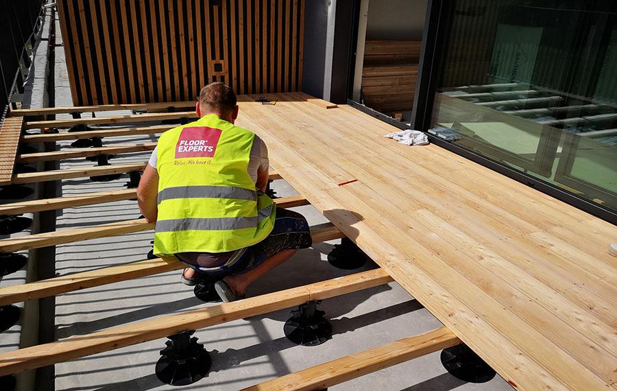 Polaganje lesene terase
